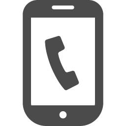 発信中のスマートフォン