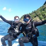 本日はカップルさんと体験ダイビング(*^^)