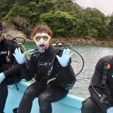 体験ダイビングファミリーさま(^^♪