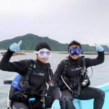 ファンダイブ!父と子!体験ダイビング(^-^)